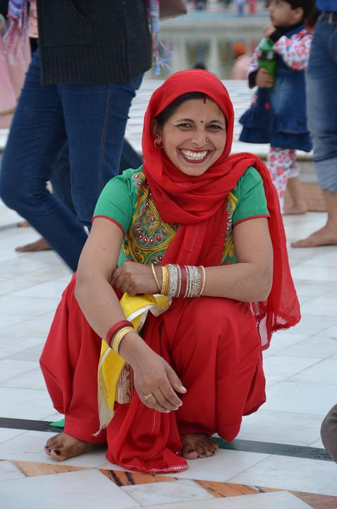 Vestido tradicional de mujer de la india