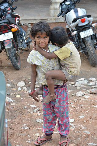 Brothers, Poverty, Begging, India