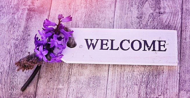 ヒヤシンス, 花, 香りの花, 香り高い, 春の花, シールド, 木の看板, 木