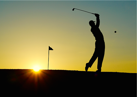 Golf, Sunset, Sport, Golfer, Bat