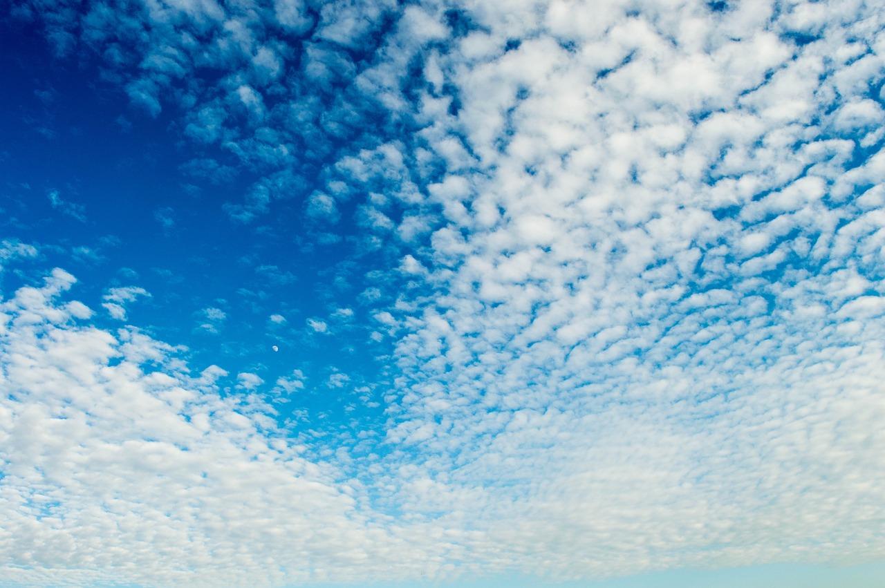 Открытка с облаками, открытку