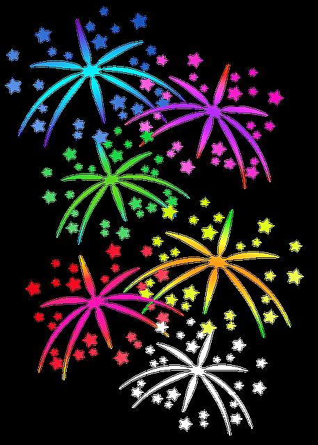 Fuegos Artificiales Estrellas Imagen Gratis En Pixabay