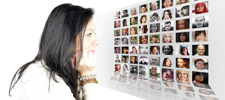 Woman, Face, Photomontage, Faces