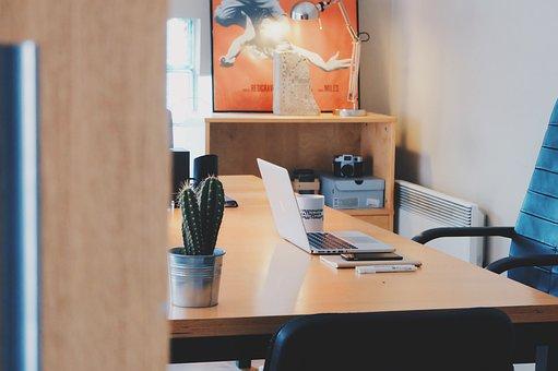 Study, Workroom, Office, Glimpse