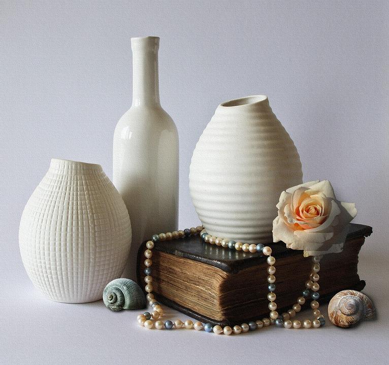 Free Photo Still Life Vases Decoration