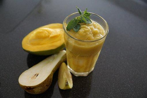 Smoothie, Fruit, Mango, Pear, Apple
