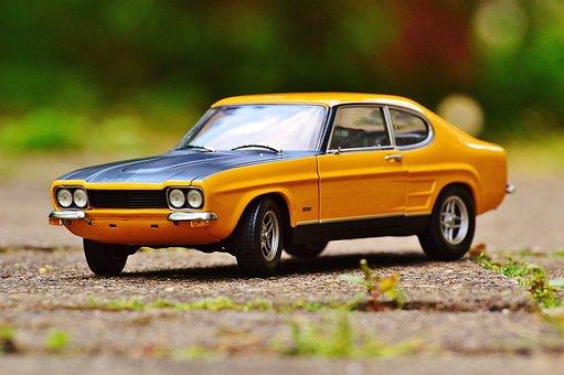 カプリ, フォード, アンティークカー, 自動車, 車両, クラシック