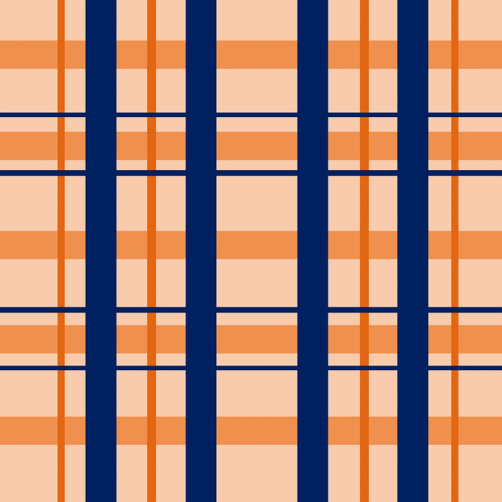 plaid design salmon navy blue texture shapes