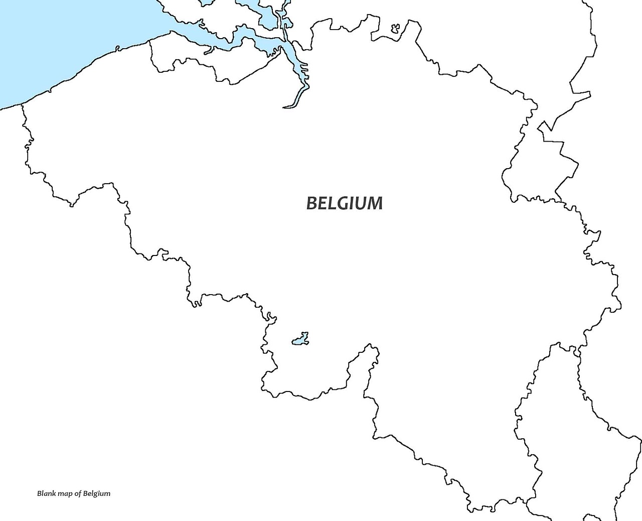 Picture of: Belgium White Map Blank Free Image On Pixabay