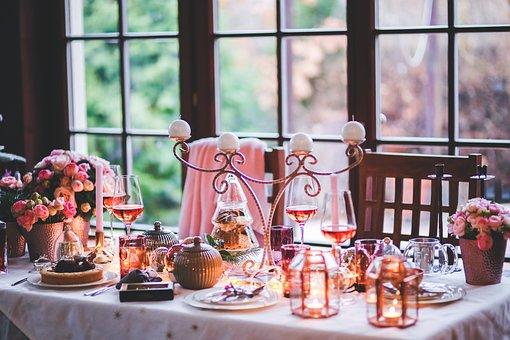 Christmas, Xmas, Table, Setting, Love