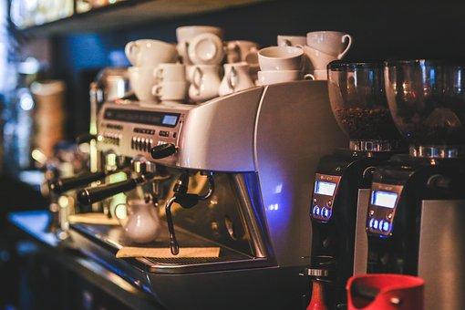 コーヒー, マシン, エクスプレス, メーカー, レストラン
