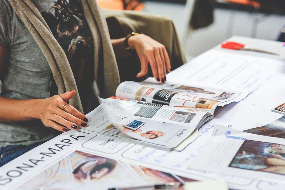 Girl, Read, Reading, Newspaper, Magazine, Hands, Woman