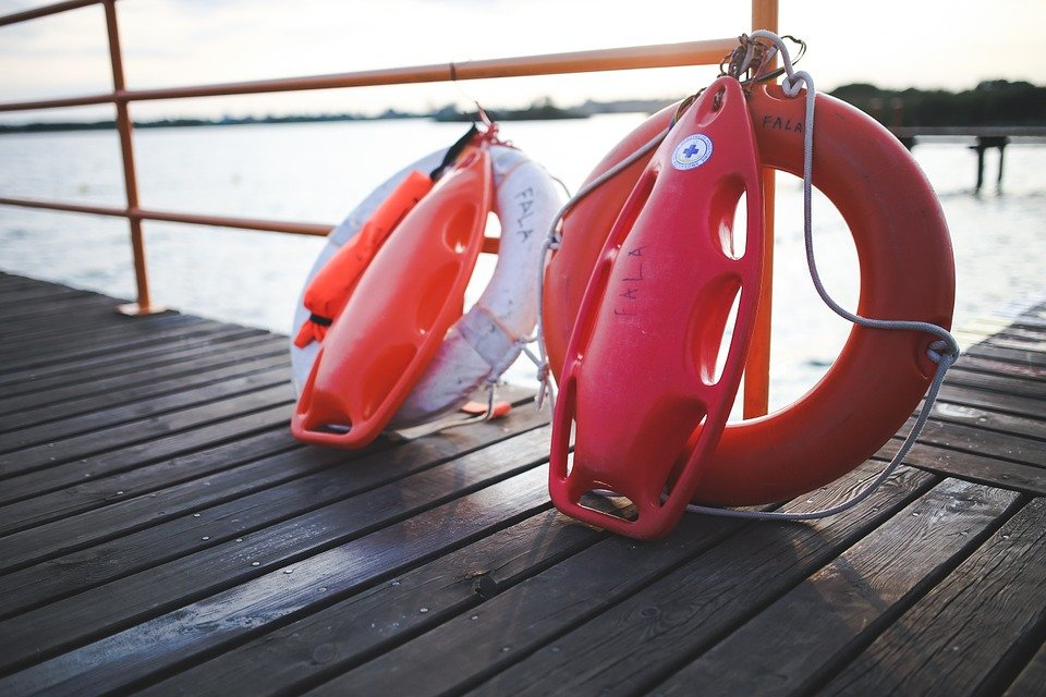 Safety, Bouy, Lifeguard, Lake, Summer, Vacation