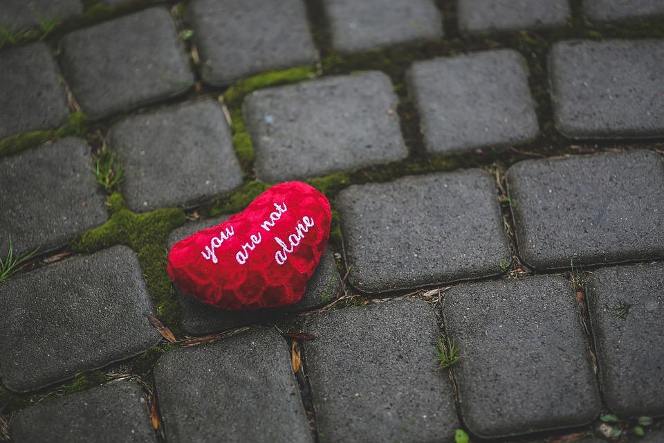 Yksin, Sydän, Rakkaus, Tyyny, Punainen, Ystävä
