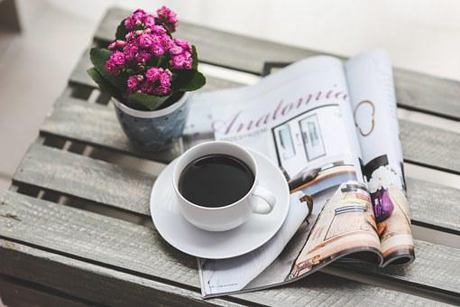 Coffee, Magazine, Newspaper, Read