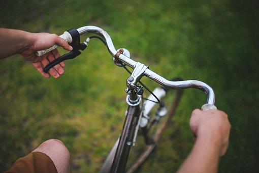 男, 少年, 保持, 自転車, ハンドルバー, 健康, ファッショナブルな