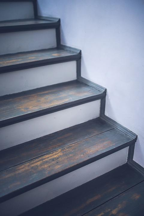 Free photo vintage old painted stairs wood free image on pixabay 791621 - Schilderij trap ...