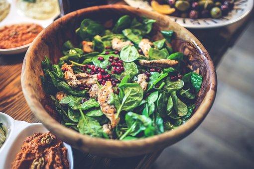 Salad, Healthy, Food, Wooden, Bowl