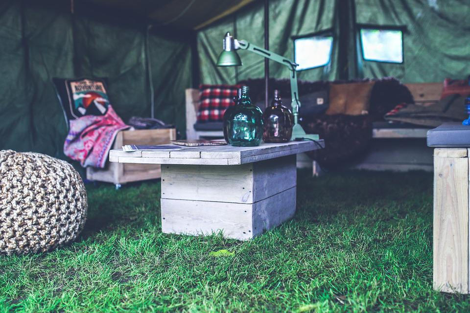 Interior, Design, Military, Tent, Wood, Wooden, Table