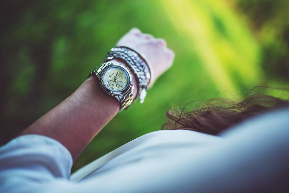 Watch, Silver, Arm, Clock, Woman, Girl, Time, Hand