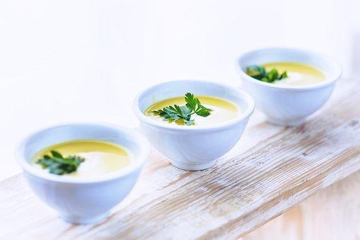 パセリ, ネギ, ジャガイモ, スープ, 食品, Foodporn, 健康