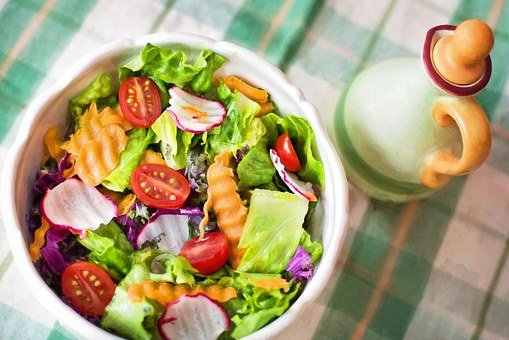 Salad, Fresh, Veggies, Vegetables