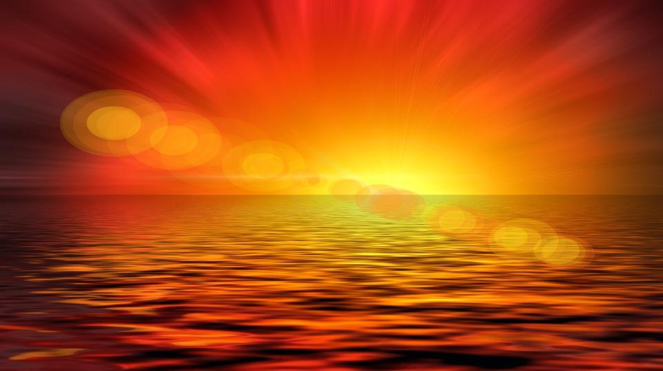 Płaska ziemia - czy można tej teorii zaprzeczyć? - Page 39 Sunset-792386_960_720