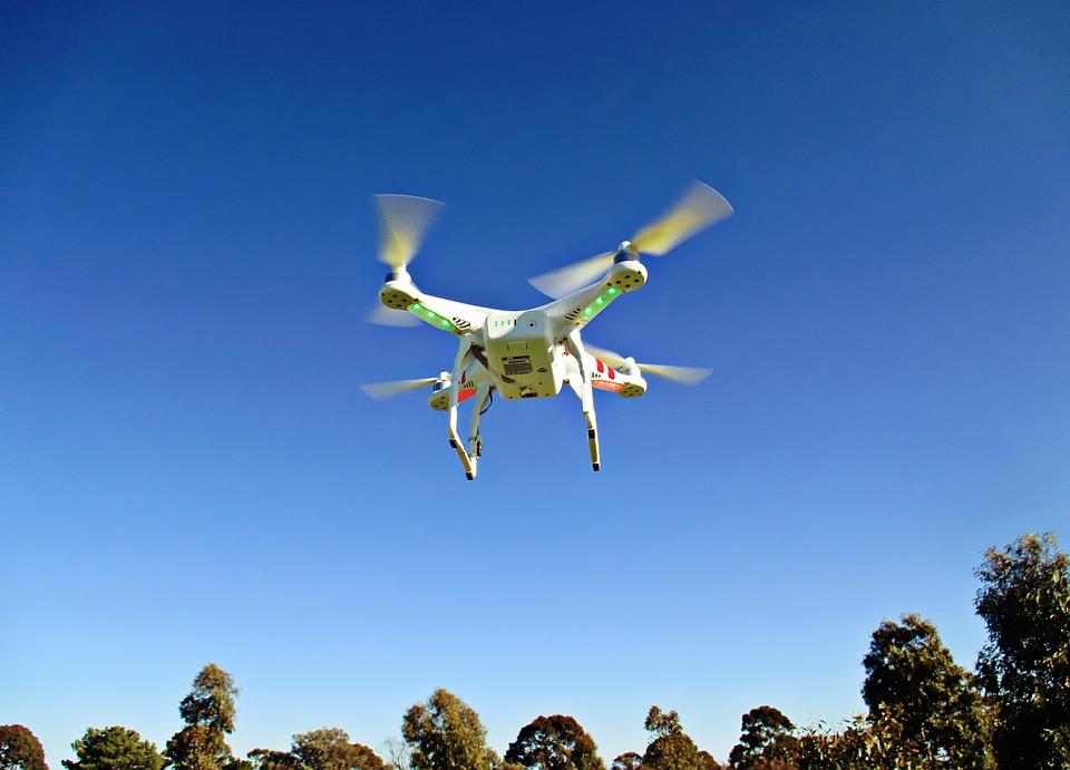 ドローン, 回転翼航空機, リモート, 空気, コントロール, 技術, 無人, ローター