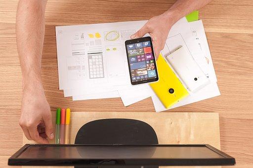 Telefone, tablet, tela, celular, inteligente