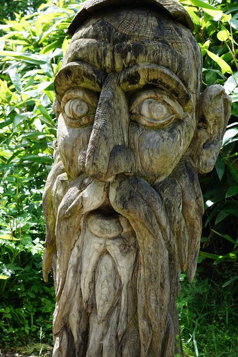 free photo face wood carve fig human art free