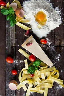 Pasta, Cheese, Egg, Food, Italian