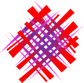 Chaos, Bright, Gradient, Red, Blue