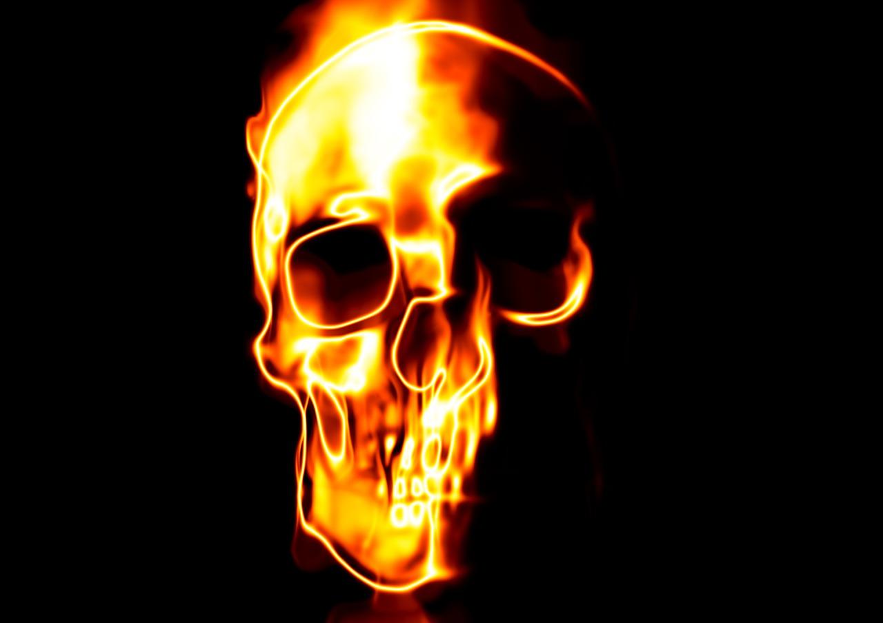 касается картинки черепов в огне с костями подсказывает пусть
