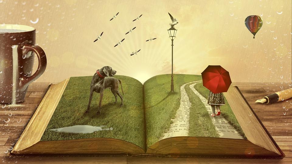Livre, Chien, Les Contes De Fées, Enfant, Parapluie