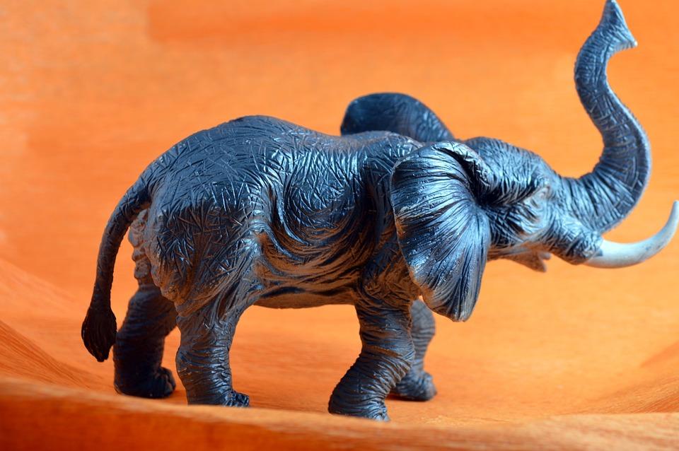 African Elephant Toys For Boys : Elephants toys good luck on white stock photo edit now