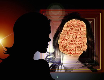 Cualidades, Mujer, Reflexión, Espejo