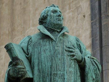 Martin Luther, Protestant, Statue