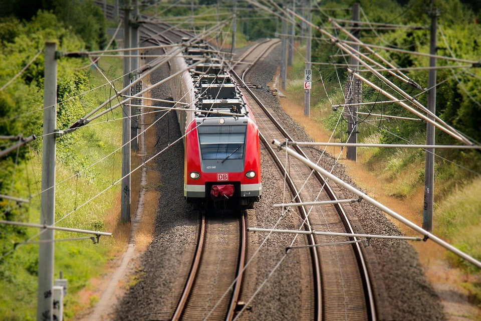 Train, Railway, S Bahn, Transport, Rails, Catenary