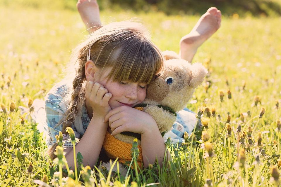 Ragazza, Teddy Bear, Coccole, Carino, Kids, Giovani