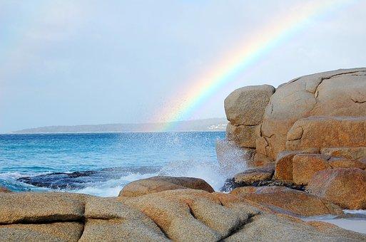 Plage, L'Australie, Océan, Arc En Ciel