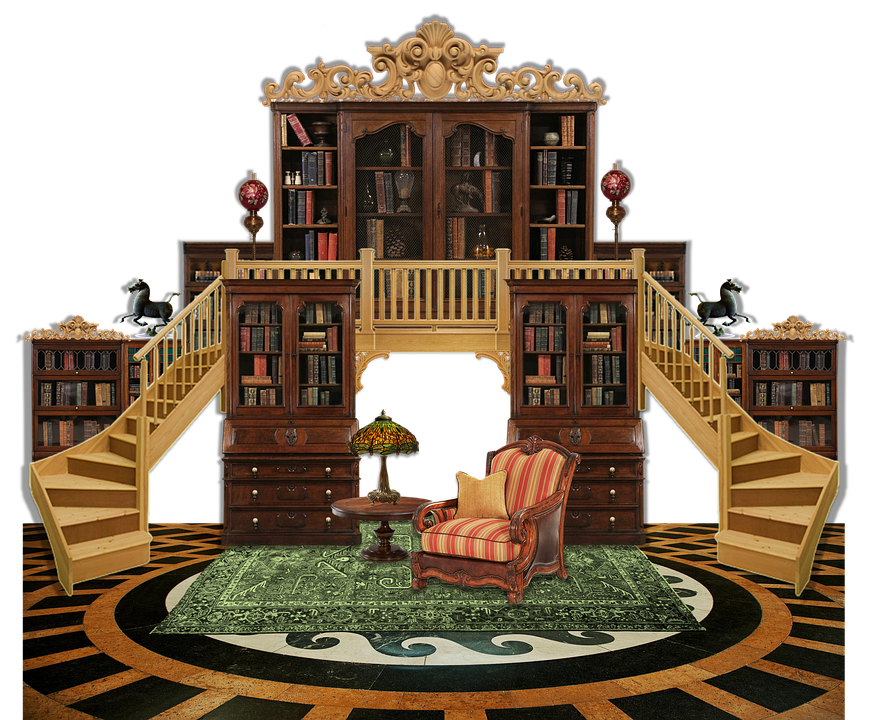 Free illustration: Library, Librarian, Fantasy, Books ...