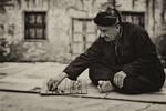 człowiek, gra planszowa, stary