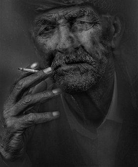 Smoker, Man, Smoking, Cigarette, Old