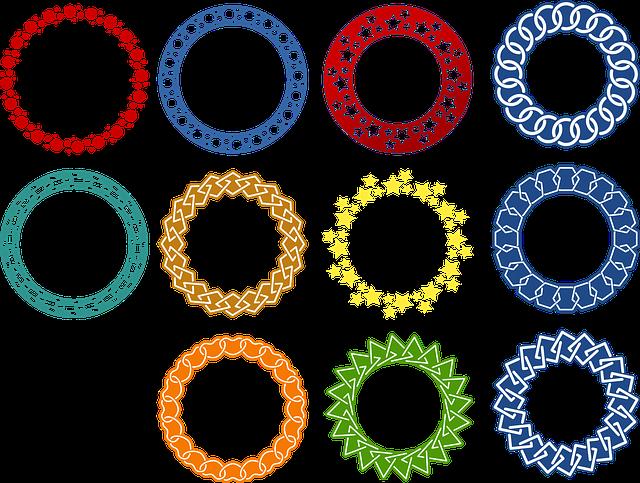 vector gratis guirnalda muestra marco redondo imagen