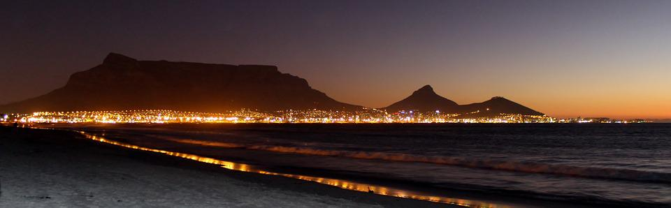 Table Mountain, Cape Town, Night Photograph, Night Sky
