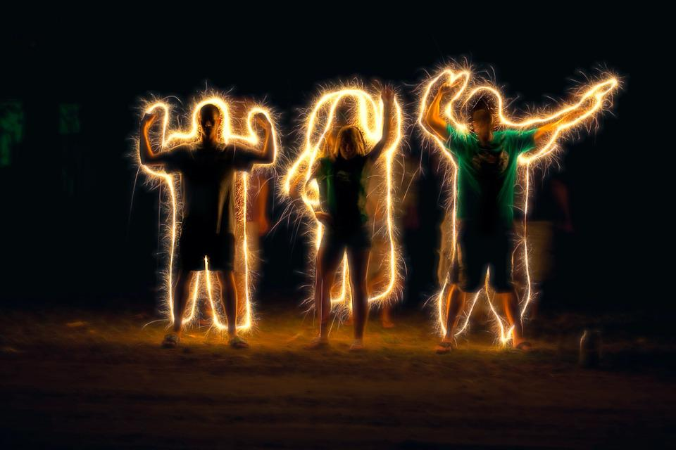 Free photo light painting sparkler writing free image for Lights for paintings