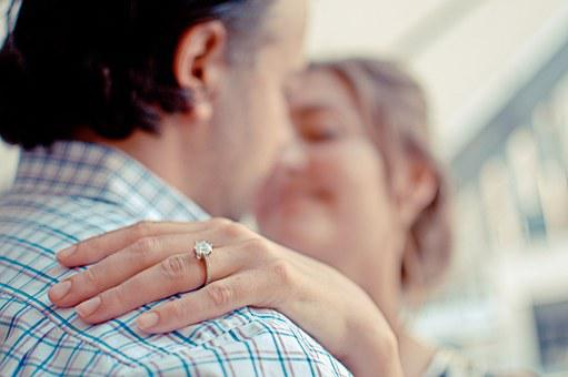 Couple, Engagement, Ring, Diamond
