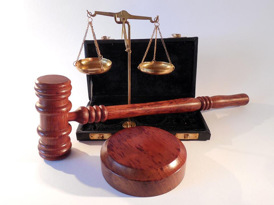 Hammer, Horizontal, Court, Justice, Right, Law