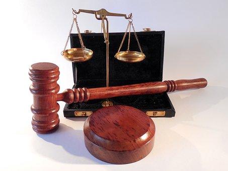 ハンマー, 水平, 裁判所, 正義, 右, 法律, 判例法, 句, ジュラ