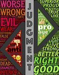 judgment, contrast, comparing